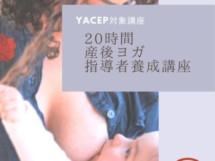 千葉市のYACEP対象、産後ヨガ指導者養成講座のお知らせです。